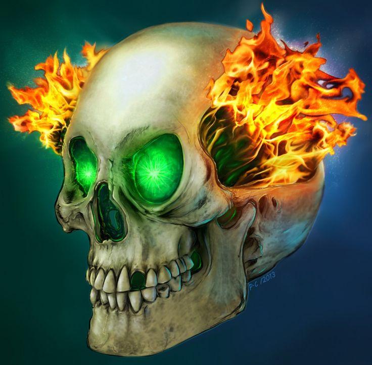 Картинки горящего черепа