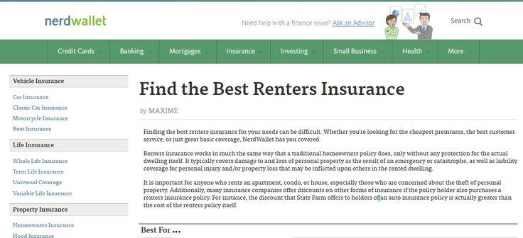 Best 25  Renters insurance ideas on Pinterest  E renters insurance, Apartment renters insurance