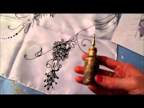 A video of how I get started painting on silk. It shows you the process of silk painting on scarves. I like to find a picture for inspiration then transfer that to silk using a small bottle to paint the design. To buy the finished silk product go to www.shaylati.com