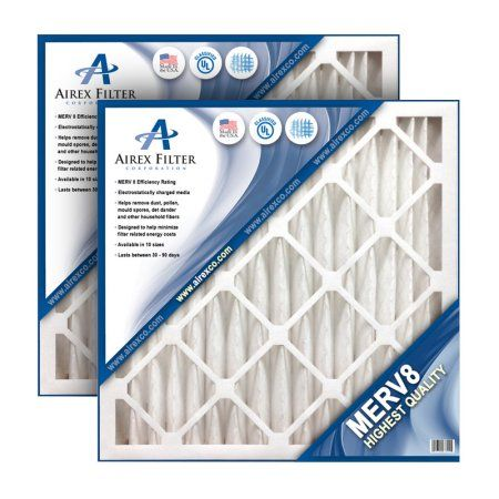 16x16x2 Pleated Air Filter Merv 8 - Highest Quality - 3 Pack - (Actual Size: 15.75 X 15.75 X 1.75)