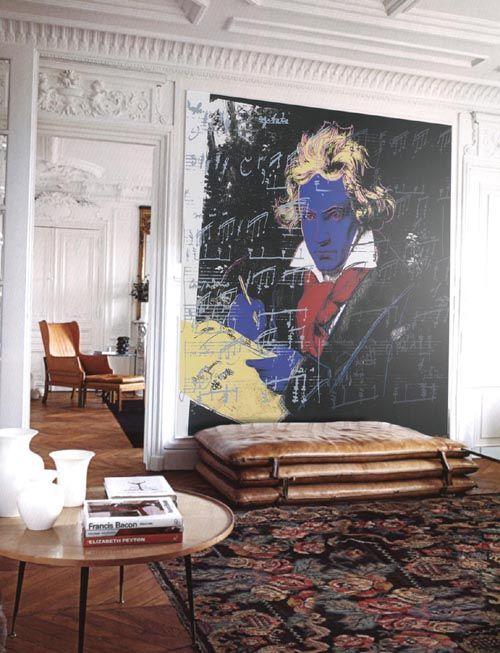 Mural adhesivo Beethoven - musica clásica - Pop Art, Andy Warhol . Decorar paredes, decorar salones, decorar habitaciones - decoraconimaginacion.com