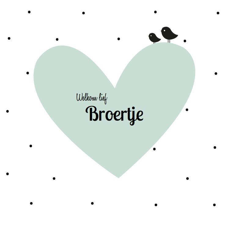 Een leuke geboortekaart voor een derde kindje! Ook leuk als aankondiging voor jullie kindje! Verkrijgbaar bij #kaartje2go voor €1,89