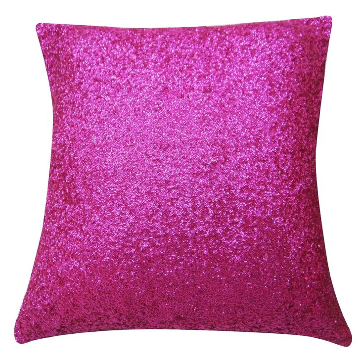 """Indian Pink Sequin Pillow Cover Throw Pillow Metallic Cushion Case Square 24"""""""