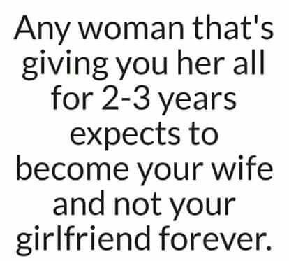That is the problem: expectations that kills you slowly. You cant become a wife to someone that already has one lol.