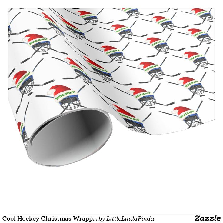 """Fun Hockey Christmas Wrapping Paper or """"Change"""" to YOUR Image CLICK: https://www.zazzle.com/z/o78vo?rf=238147997806552929 Fun hockey Christmas wrapping paper for wrapping up your gifts for hockey lovers and hockey fans. See many more cool and fun Hockey Christmas Gifts, Hockey party ideas for hockey players and hockey coaches: http://www.zazzle.com/littlelindapinda/gifts?cg=196351634751800801&rf=238147997806552929"""
