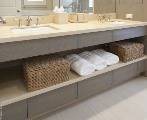 Floating Vanity With Open Shelves And Drawers Hotel Conference Pinterest