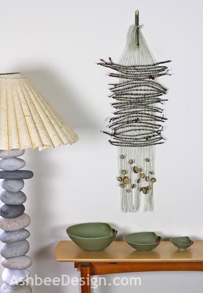 How To Weave A Basket Out Of Twigs : Diy tutorial branches twigs woods twig weaving wall