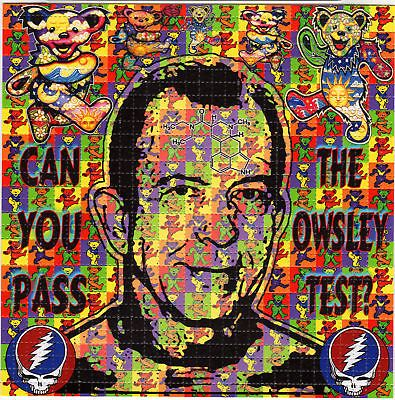 Owsley Stanley Grateful Dead Dancing Bears Blotter Art | eBay