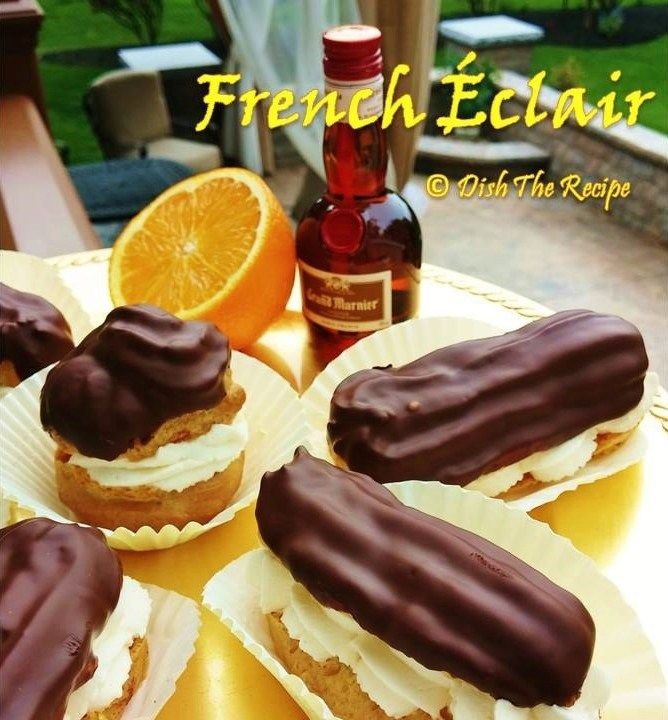 French Chocolate Eclair Profiteroles-Cream Puff - best recipe for choux!