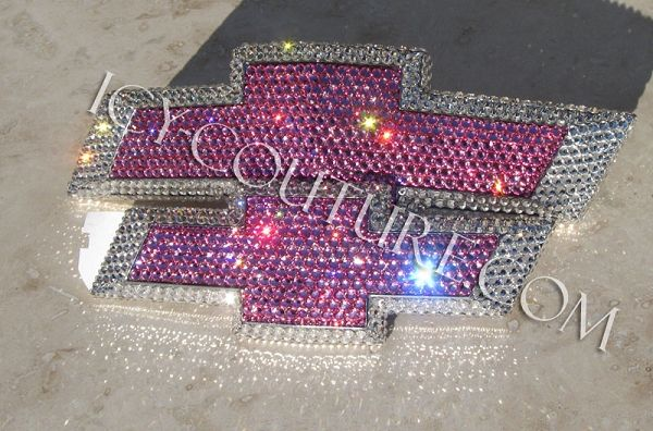 Bling-Bling! :) PINK & Diamond Clear, ICY COUTURE Swarovski Crystal CHEVY Emblems! Whats your colors?