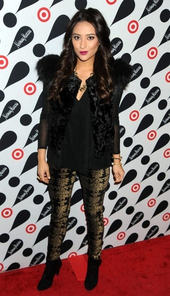 Shay Mitchell in 7 for All Mankind