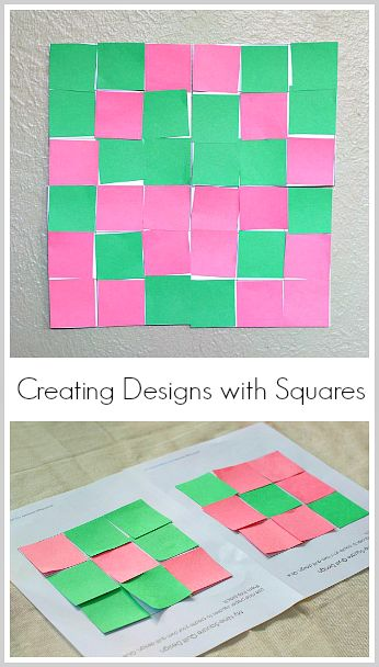 Creating Designs and Patterns with 9-square paper quilt templates! (FREE printable)~ BuggyandBuddy.com