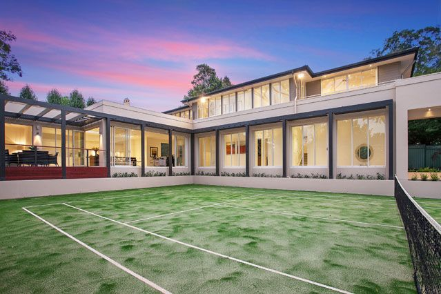 #luxury home #tennis court by Chateau Architects + Builders
