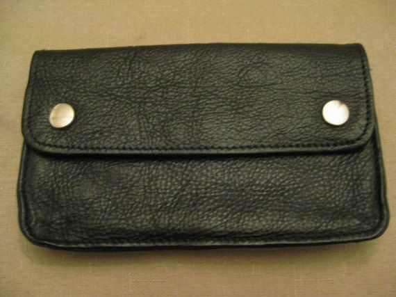 Un Used Handcrafted Biker Trucker Wallet by vtseredipityboutique