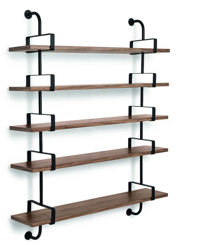 GUBI // Demon Shelf 5 shelves, width 155 cm in walnut. Designed by Matheiu Matégot