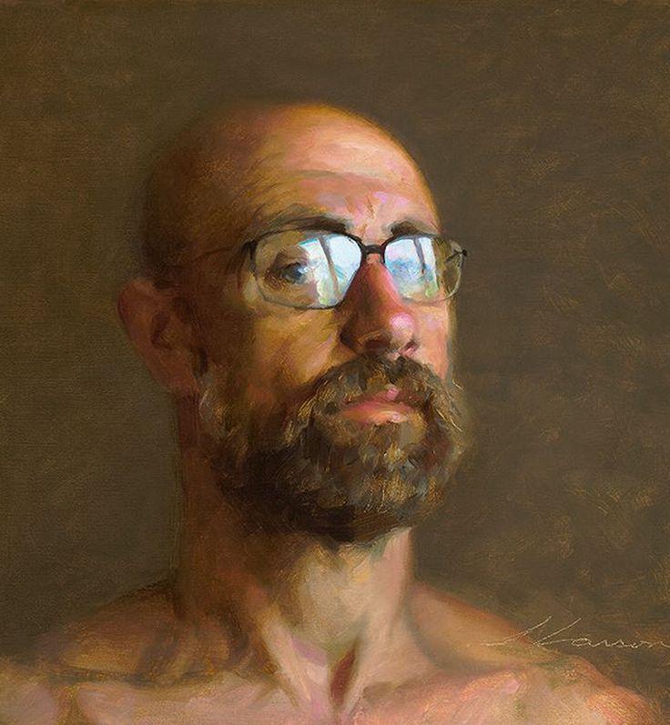 """""""Self Portrait"""" - Jeffrey T. Larson, oil on canvas, 2013 {contemporary…"""
