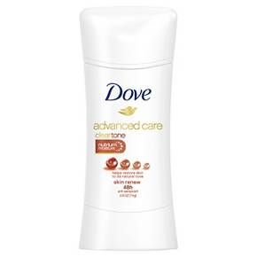 If you're looking for an antiperspirant deodorant that's ready for anything (just like you), try Dove Advanced Care Antiperspirant Deodorant Clear Tone Skin Renew 2.6 oz. This Dove deodorant nourishes underarm skin and helps to reduce dark marks on the underarms. Dove Clear Tone Skin Renew cares for your delicate underarm skin. As with all Dove Advanced Care deodorants, its 0% alcohol (ethanol) formula contains Dove NutriumMoisture and ¼ moisturizers to help give ...