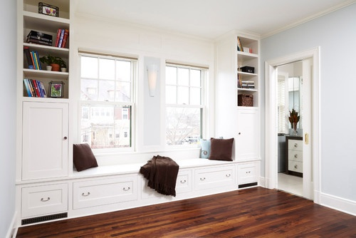 Built In Around Window Design, Pictures, Remodel, Decor and Ideas - page 6