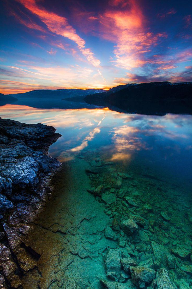 The clear emerald waters of Kalamalka Lake British Columbia [OC][33775065] #reddit