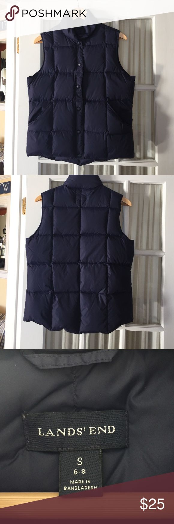NWOT Lands End Ladies Down Vest Sz S NWOT Lands End Ladies Down Vest. Sz S (6/8). Color- Navy. Lands' End Jackets & Coats Vests