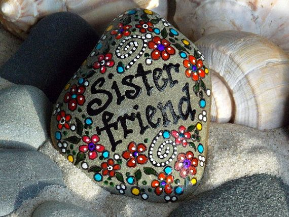 Sister Friend / Painted Rock / Sandi Pike by LoveFromCapeCod, $39.00