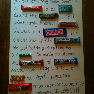 father's day candy bar cards