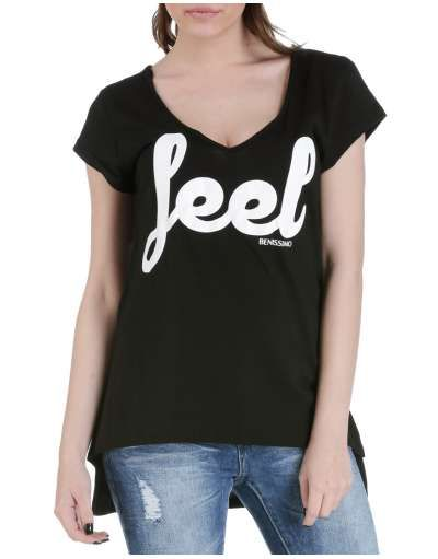 ΝΕΕΣ ΑΦΙΞΕΙΣ :: T-shirt Feel Asymmetrical Black - OEM