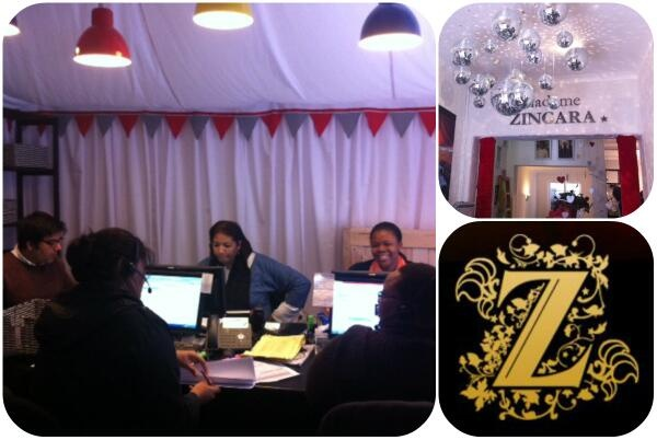 Madame Zingara's HQ is undergoing some serious renovations... This is box offices makeover... #theater #circus inspired