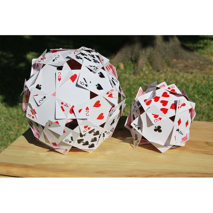 """A perfect decoration for a """"Magic"""" themed party, a """"Casino Night"""" party, or even an """"Alice in Wonderland"""" themed party. The card spheres are beautiful as a cent"""