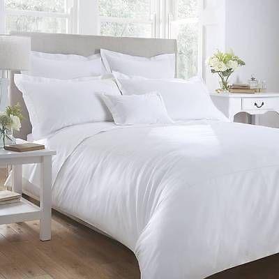 "1200 TC Egyptian Cotton 16""Pocket 3 Pc. White Twin XL bedding set / bed sheet"