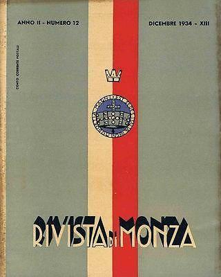 RIVISTA DEL COMUNE DI MONZA N° 12 DEL 1934 RASSEGNA DI VITA CITTADINA | eBay