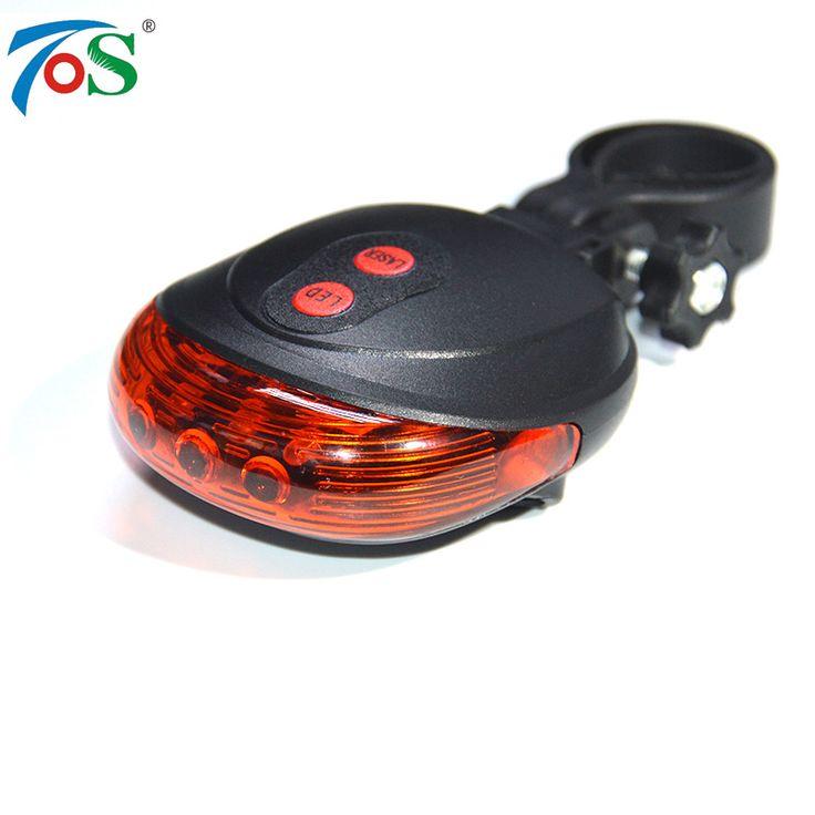 TOS Bike light 5LED 2Laser  7 Flash Mode Bicycle Safety Rear light Bike accessories Laser  Warning Lamp Flashing