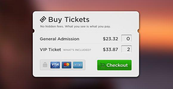 PSD Freebie: Buy tickets popup PSD