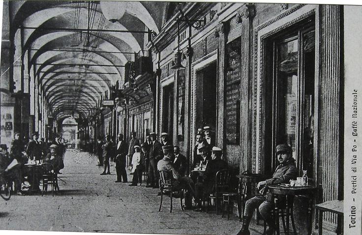 Torino inizio '900- Portici di Via Po
