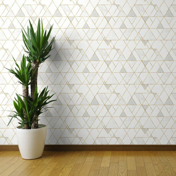 Clarkson Geometric Removable Peel And Stick Wallpaper Panel In 2020 Geometric Removable Wallpaper Wallpaper Panels Peel And Stick Wallpaper