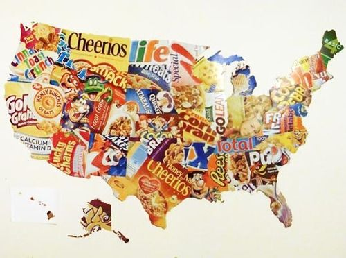 Now Here 39 S A New Use For Food Packaging Map Art Made By