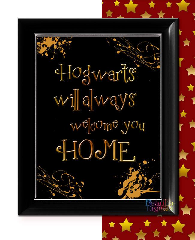 Harry Potter Print Inspirational Quote Home - Glossy 300dpi 10x8inch
