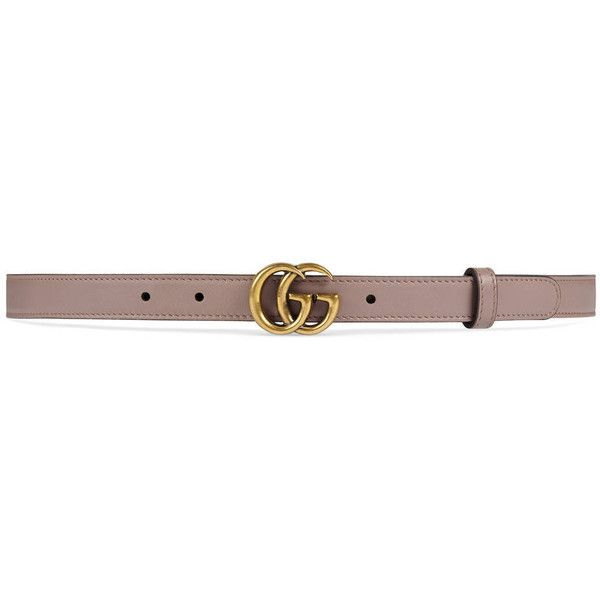Gucci Leather Belt With Double G Buckle ($275) ❤ liked on Polyvore featuring accessories, belts, pink, women, buckle belt, gucci, leather buckle belt, pink waist belt and real leather belts