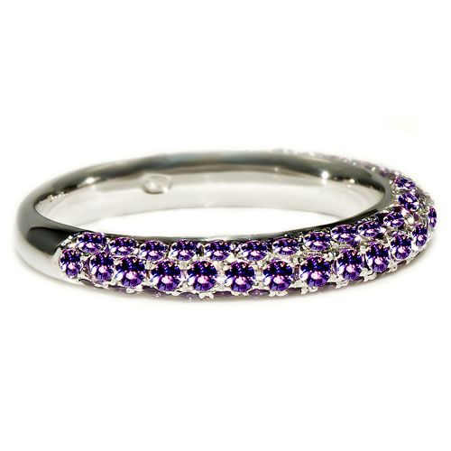 Unique, purple diamond ring, purple gemstone engagement ring by Grand Diamonds