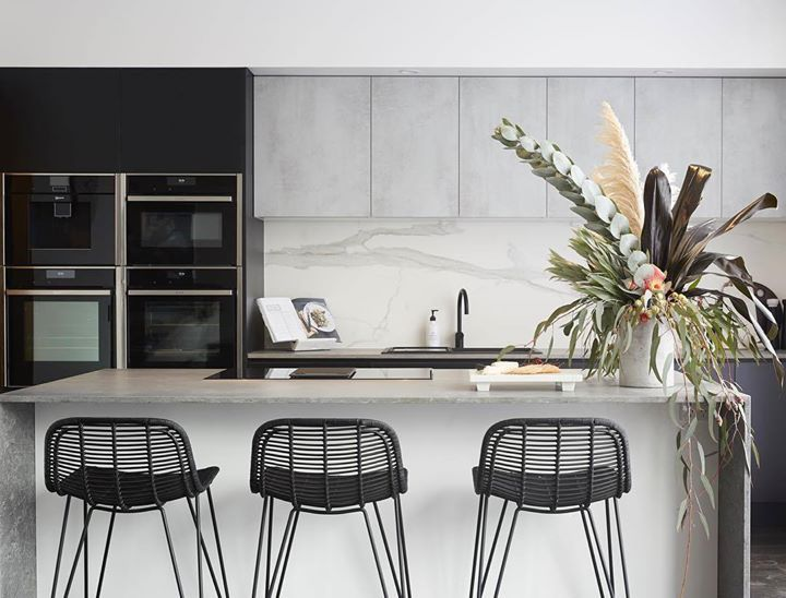 ronnie and georgia's kitchen. We love their textured cabinets, modern appliances and the light airy feel it has. the block 2017