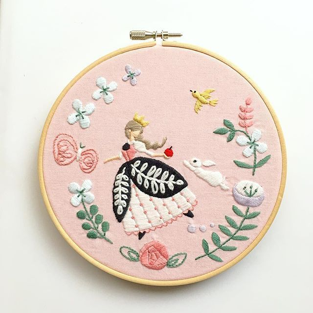 Princess Embroidery - no pattern, for inspiration only
