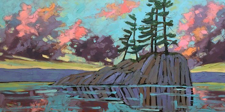 Algonquin Sunset Series by Sara Alex Mullen. Ottawa artist, Canadian artist, Landscape painter.