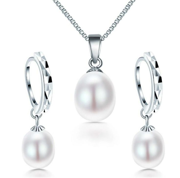 925 Sterling Silver Pearl Jewellery Set //Price: $27.78 & FREE Shipping //     #sale
