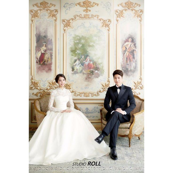 Stunning Vintage Backdrop For This Couple's Korean Studio Pre-wedding Photoshoot - Studio Roll, Elegant, Vintage, Indoors