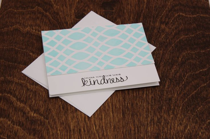 Thank You Card, Kindness Card, Fancy Handmade Card, Just Because Cards, Blank on the Inside Card Best Friend Card, Cards For Her, Handmade