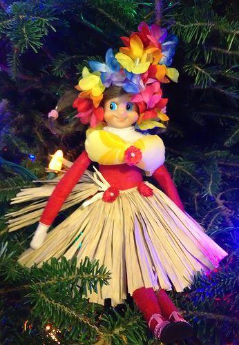 The Elf on the Shelf~Elf ready for Hawaiian vacation.