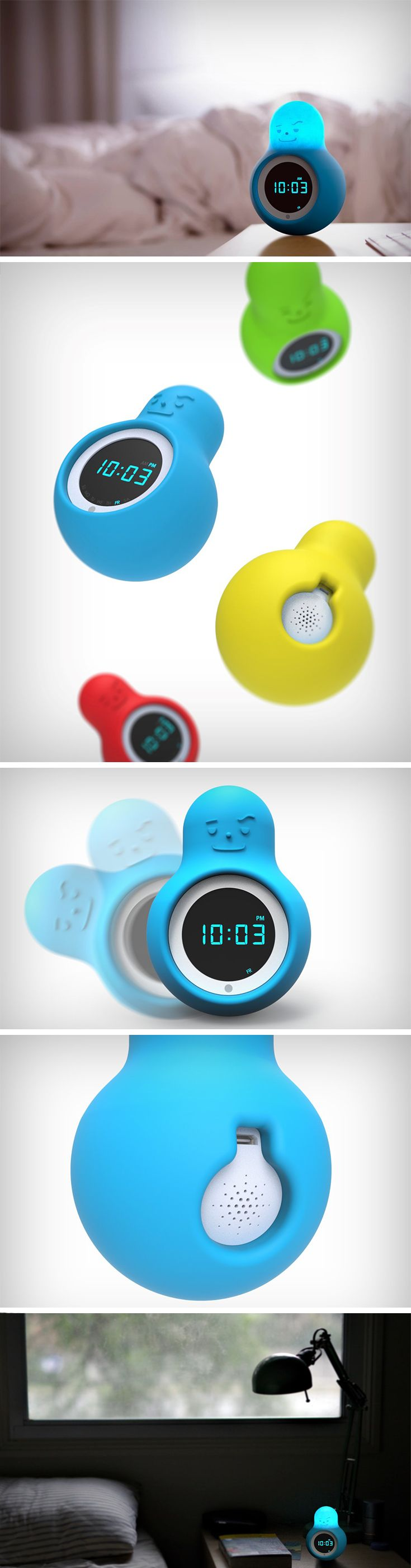 Mr. Wakey's the kind of alarm that will do its job regardless of the user's experience with the product. Whether you love it or hate it, the Mr. Wakey sticks to its design brief of getting you wide awake and even out of bed! The alarm clock comes in a bulbous roly-poly toy shape that stays upright no matter what and is designed to take all your frustration because the only way you can switch the alarm off is by flinging it at a wall.