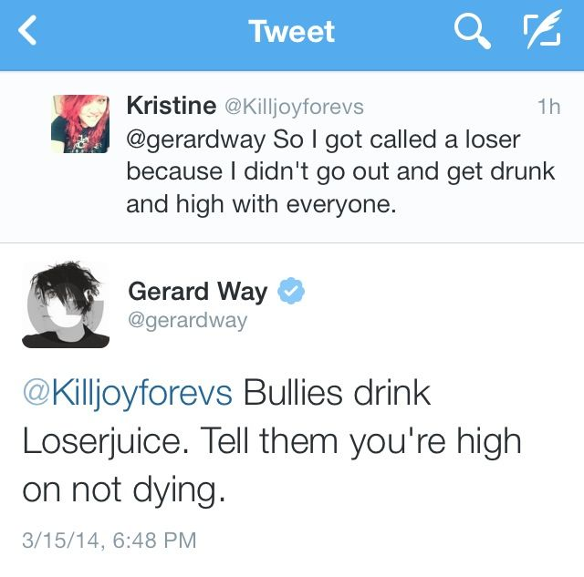 i think i would die if that happened. i love gerard so much like omfggg.
