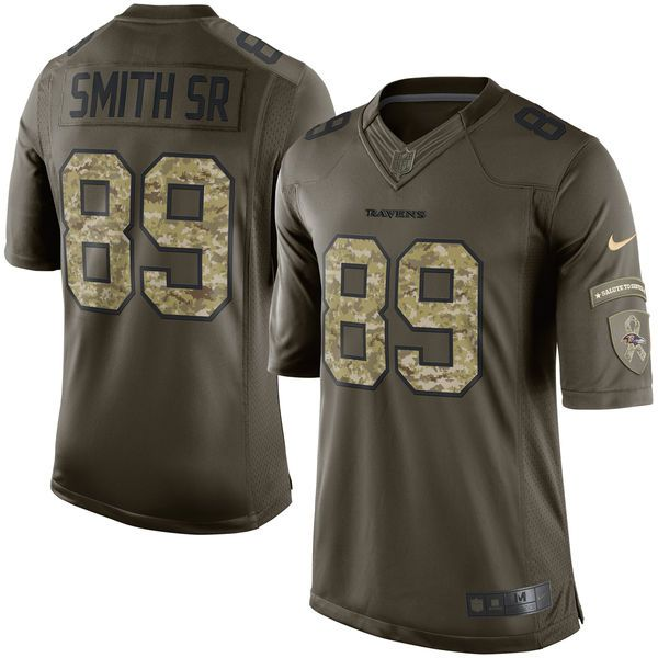 Steve Smith Sr Baltimore Ravens Nike Salute To Service Limited Jersey - Green - $159.99