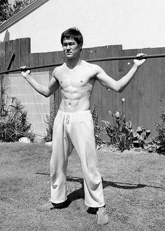 Bruce Lee working out